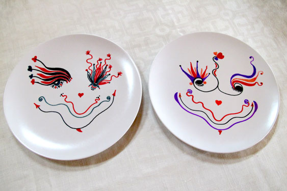 Happy Plates in Reds